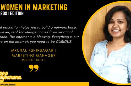 Mrunal Kshirsagar, LinkedIn, Women In Marketing (Black)