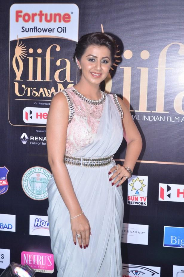 nikki galrani hot in saree at iifa awards 2017DSC_7566