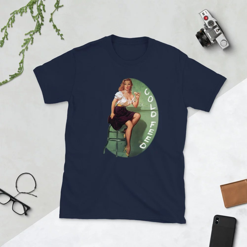 Cold Feed Vintage pin-up unisex t-shirt