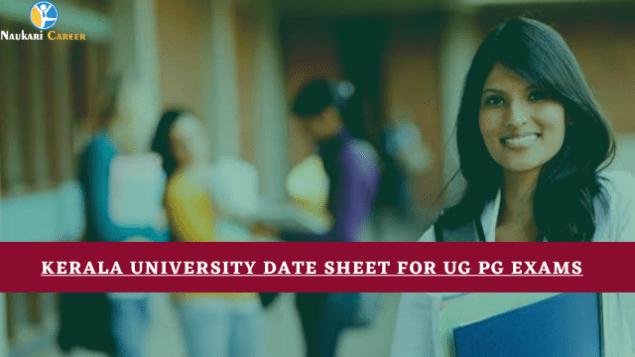 Kerala University Date Sheet