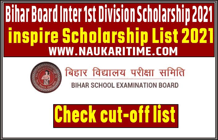 Bihar board Inter Inspire Scholarship List 2021