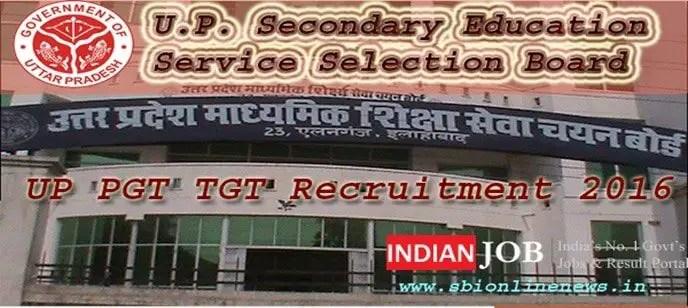 UP PGT TGT Recruitment 2016