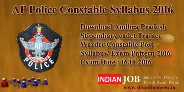AP Police Constable Syllabus 2016