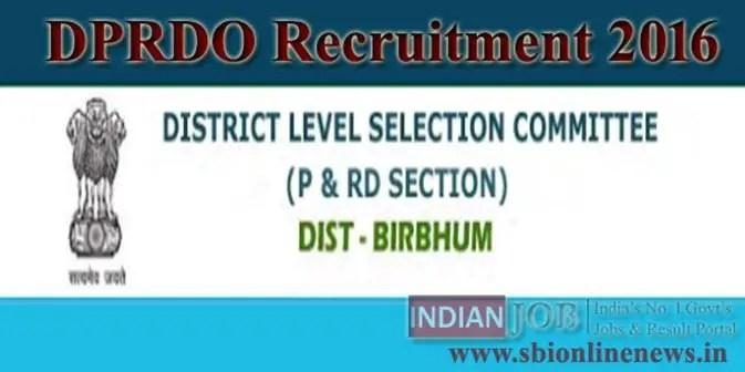 DPRDO Recruitment 2016