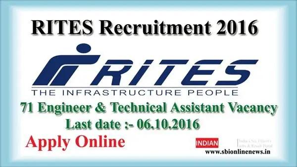 RITES Recruitment 2016