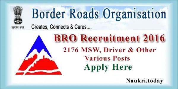 BRO Recruitment 2016