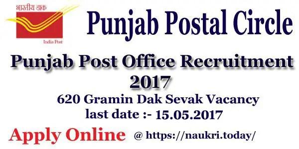 Punjab Post Office Recruitment 2017