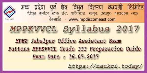 MPPKVVCL Syllabus 2017
