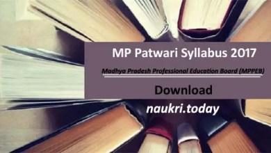 MP Patwari Syllabus