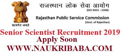 RPSC RECRUITMENT VACANCY 2019 APPLY SOON