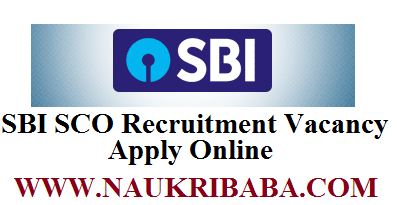 SBI SCO recruiment vacancy apply online