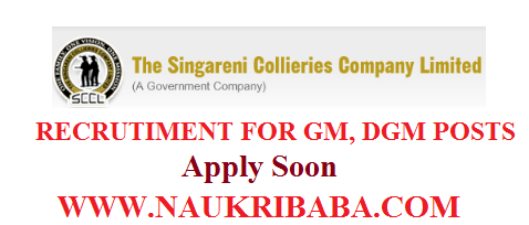 SCCL DGM POSTS RECRUITMENT VACANCY 2019 APPLY SOON