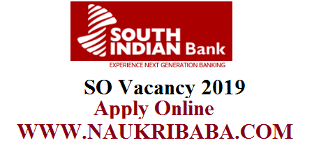 south indian bank so vacancy 2019