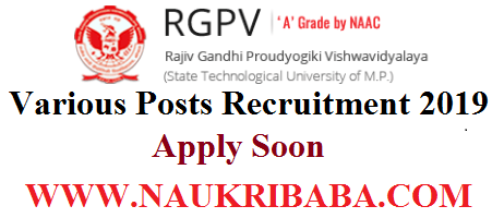 RGPV POSTS RECRUITMENT