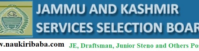 Apply for JE, Draftsman, Junior Steno and Others Posts in JKSSB, Last Date-24/03/2021.