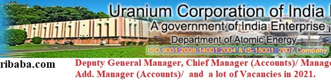 Apply for Various Manager, Chief Manage (Account) and Many Posts in UCIL, Last Post-20/03/2021.