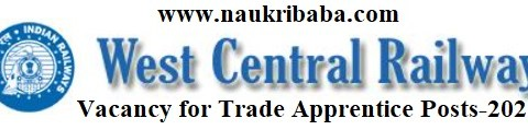 Apply for Trade Apprentice Posts-2021 in WCR, Last Date-30/03/2021.