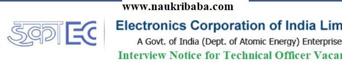 Downlaod Application from of Technical Officer Vacancy in ECIL, Intv. Date-06/04/2021.