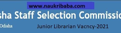 Apply - Junior Librarian Vacancy-2021 in OSSC, Last Date-22/04/2021.
