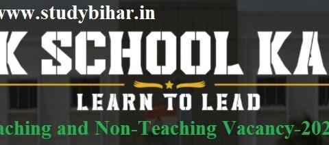 Apply Online for Teaching and Non-Teaching Vacancy-2021 in Sainik School Kalikiri, Last Date-10/04/2021.
