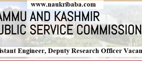 Apply - Assistant Engineer, Deputy Research Officer Vacancy-2021 in JKPSC, Last Date-07/05/2021.