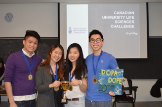 Our first place winners, Dopa Dope representing the University of Toronto