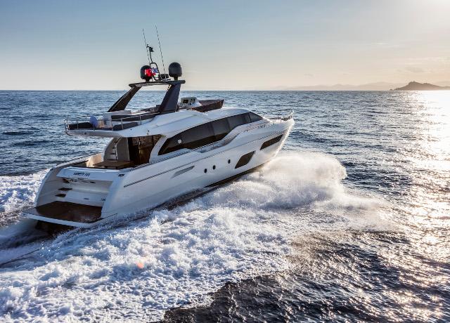 New Entry In Sporty Flybridge Yachts: Ferretti Yachts 700