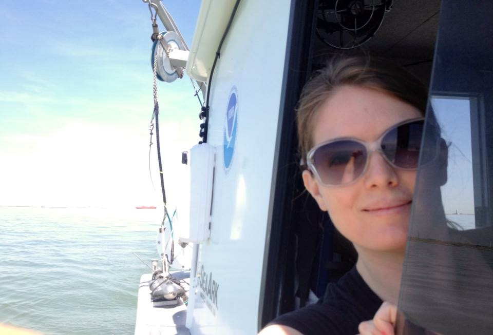 Erin Diurba, hydrographic surveyor on NOAA navigation response team 4, homeported in Galveston, Texas.