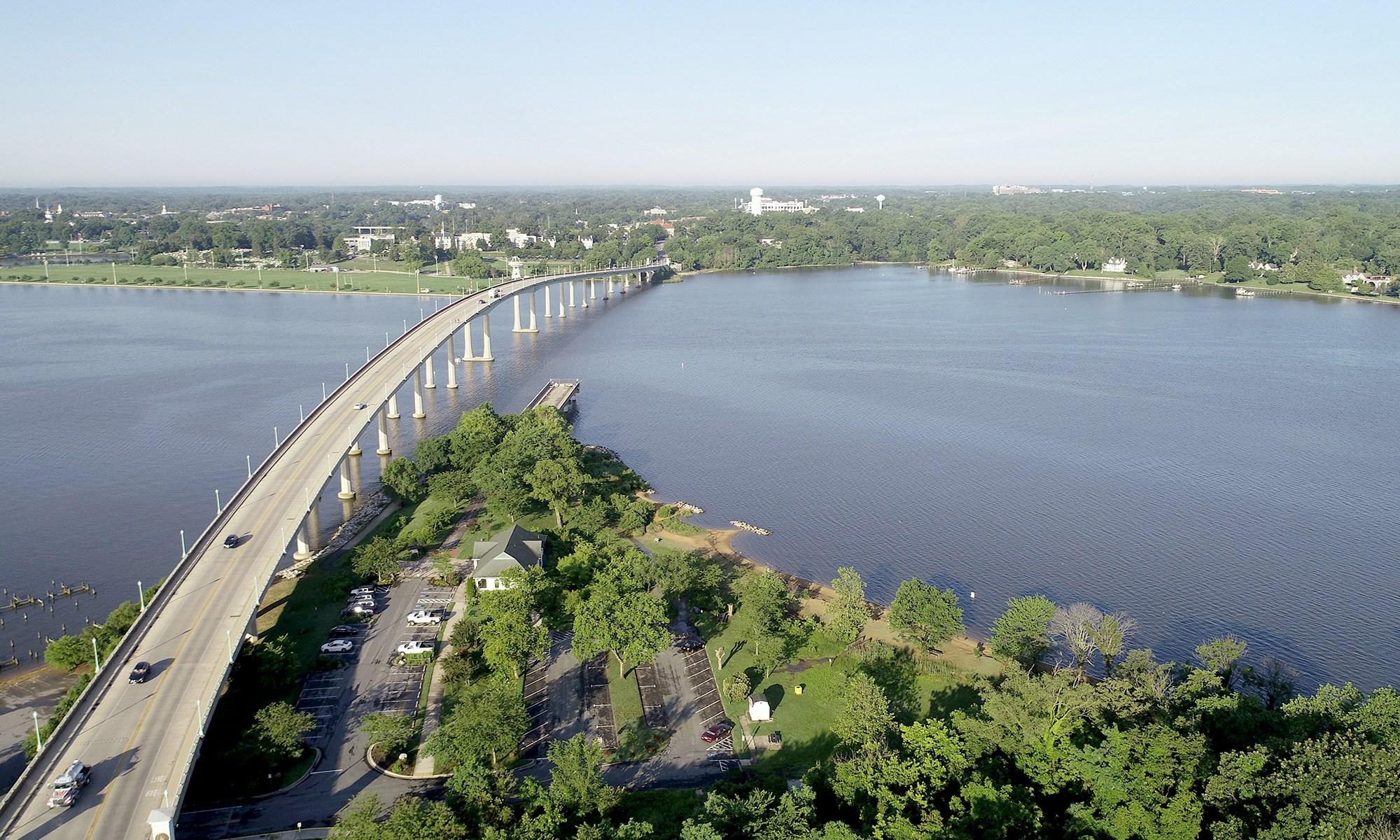 U.S. Naval Academy bridge crossing the Severn River