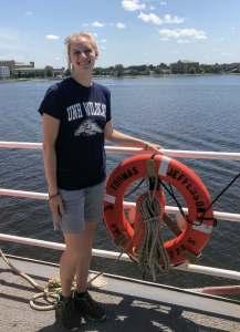 Natalie Cook aboard NOAA Ship Thomas Jefferson
