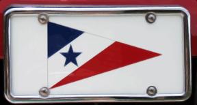 Custom Burgee plate