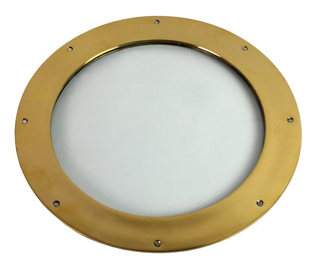 "12"" Solid Brass Deadlight Porthole Wall Mount Window"