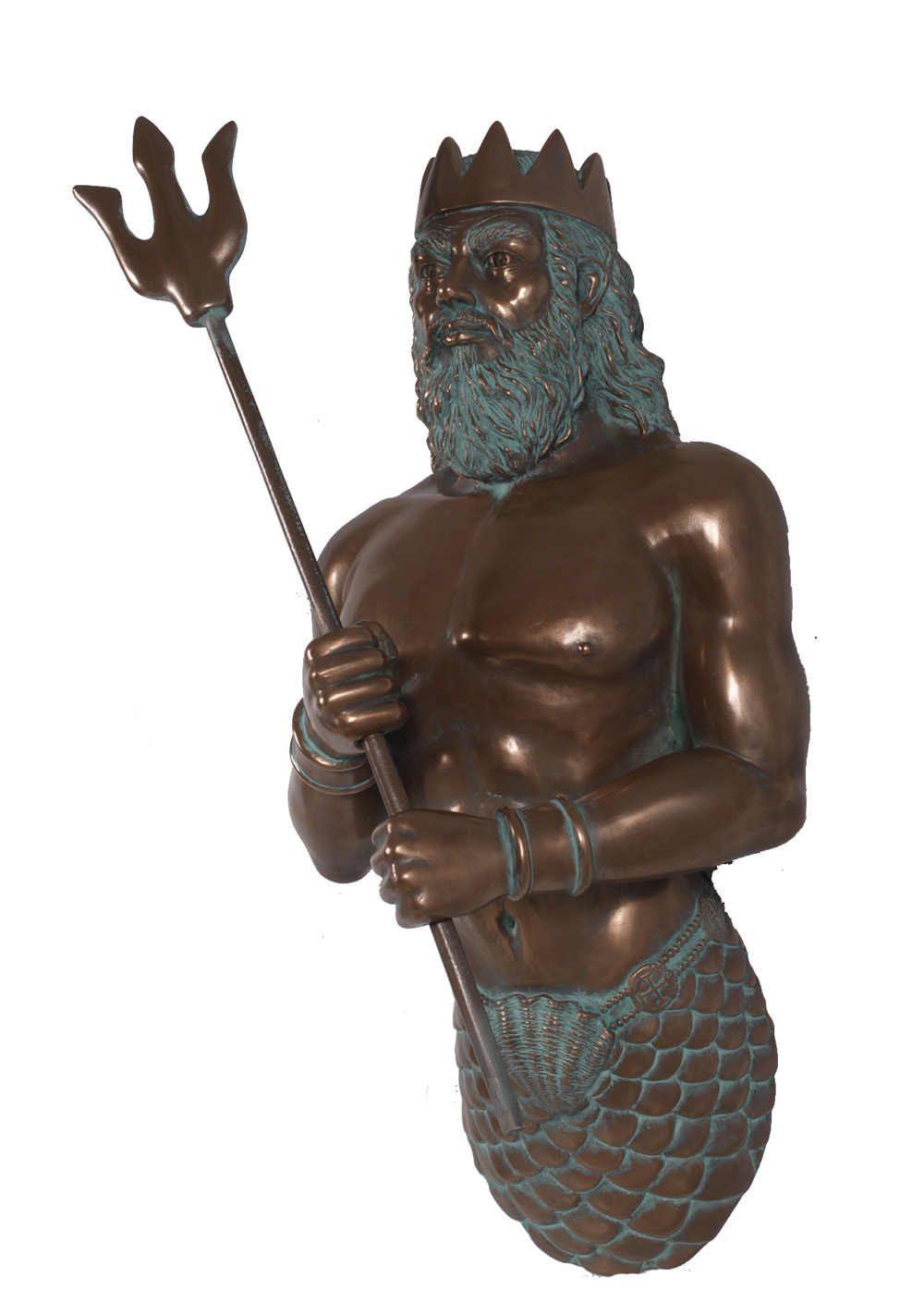 Bronze Nautical Tropical Neptune Zeus Mythology