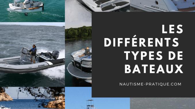 Les Différents types de bateaux