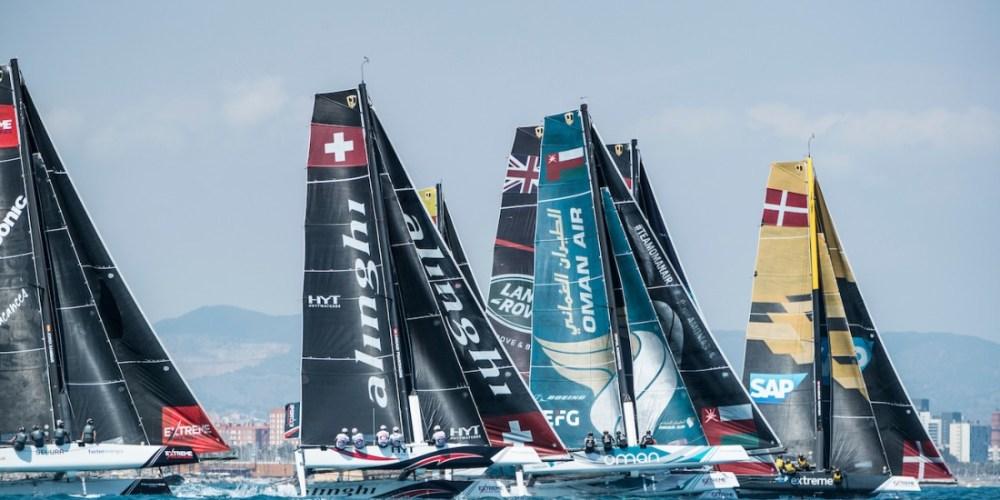 Extreme Sailing Series . Barcelona se Recalienta