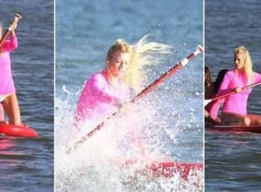 Paddle surf, el deporte veraniego furor que practica Nicole Neumann