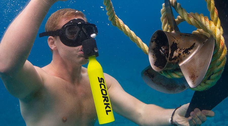 Scorkl, respira bajo el agua con total libertad