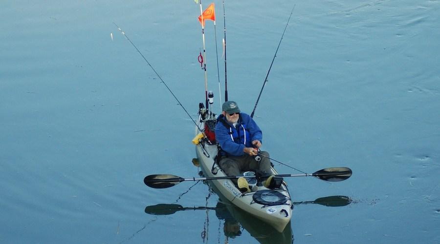 Pescar en kayak seguro