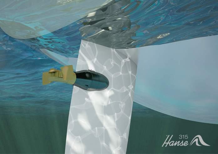 Hanse E-motion Rudder Drive, timón con motor eléctrico