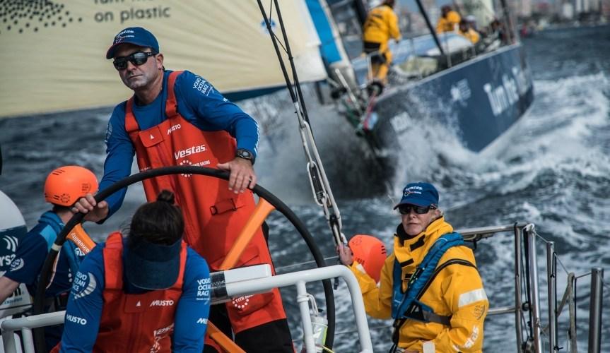 Volvo Ocean Race a pocas millas ya de Gibraltar