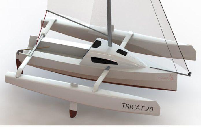 Tricat 20, un mini trimarán habitable