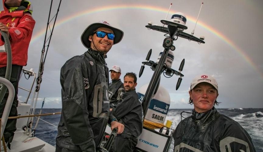 la cruenta batalla de la flota de la Volvo Ocean Race