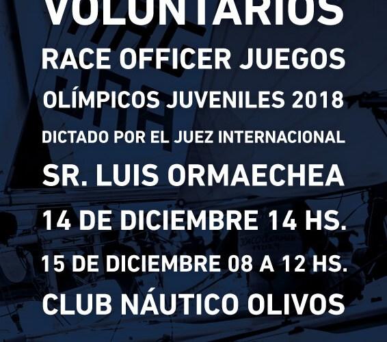 SEMINARIO VOLUNTARIOS PARA LAS YOUTH OLYMPICS