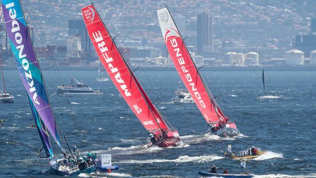 Volvo Ocean Race, regata In-Port en Ciudad del Cabo