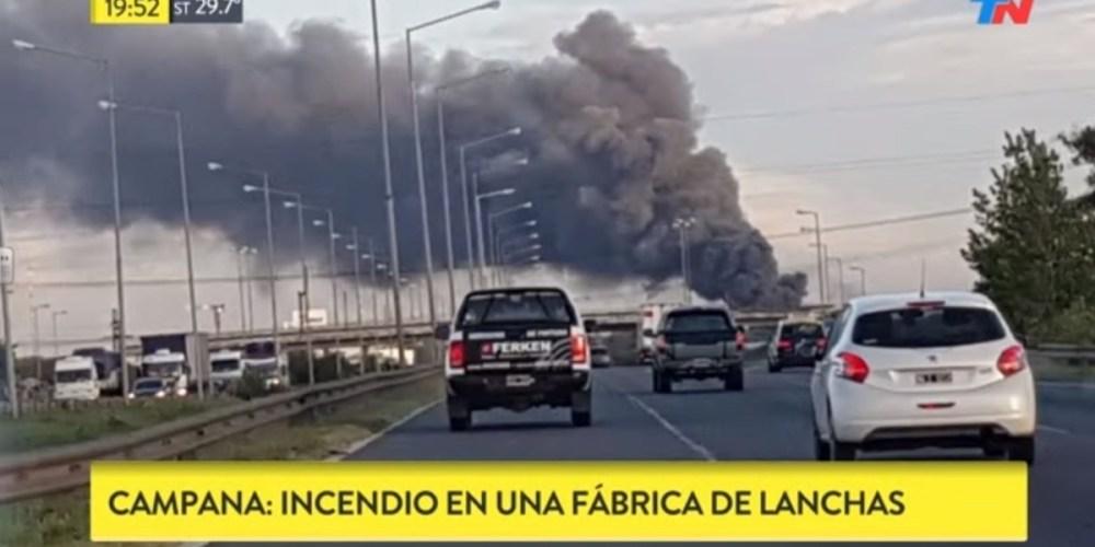 Se incendia el Astillero Marine Sur