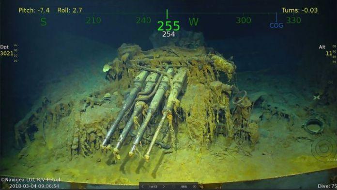 Descubrimiento del portaaviones USS Lexington.