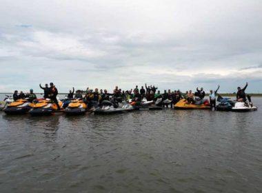 40 jet skis en la travesía entre Brasil y Uruguay