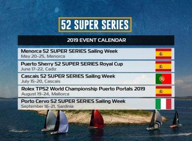 52 Super Series, calendario 2019