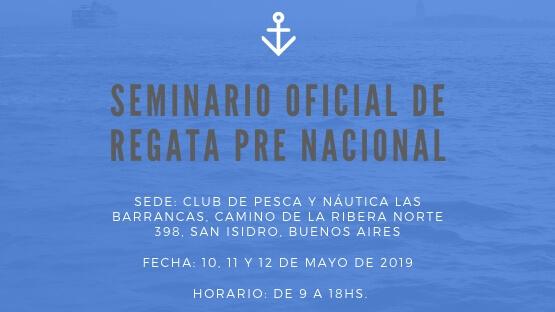 SEMINARIO OFICIAL DE REGATA PRE NACIONAL