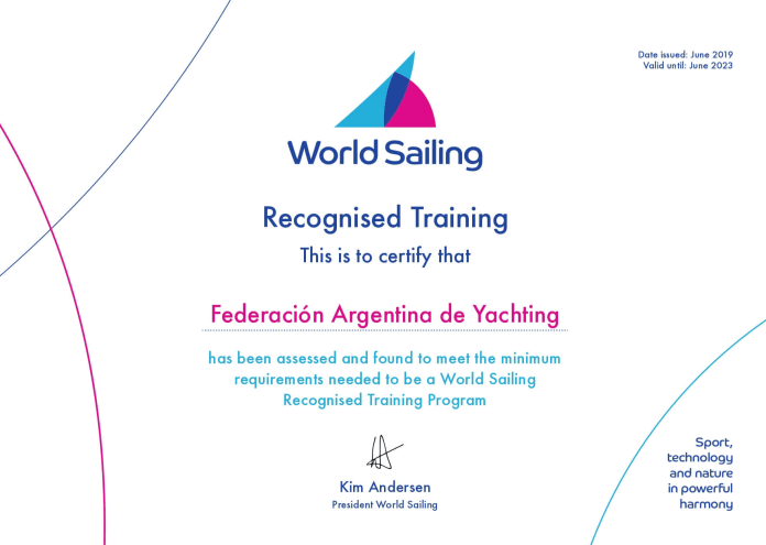ARGENTINA LOGRA EL CERTIFICADO WORLD SAILING